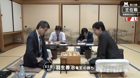 現役最多、同一カード166回目の対局 羽生善治竜王が谷川浩司九段に勝利