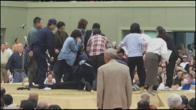 大相撲巡業 土俵上で倒れた舞鶴市長 くも膜下出血で入院 京都
