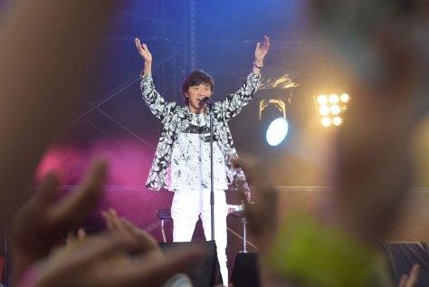 昨年8月、静岡での公演「フェスタ静岡」で「YOUNG MAN」を披露し観客を沸かせた西城秀樹さん