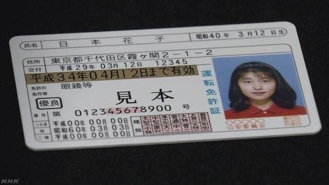 運転免許証 がん治療などで脱毛の人は帽子着用可能に | NHKニュース
