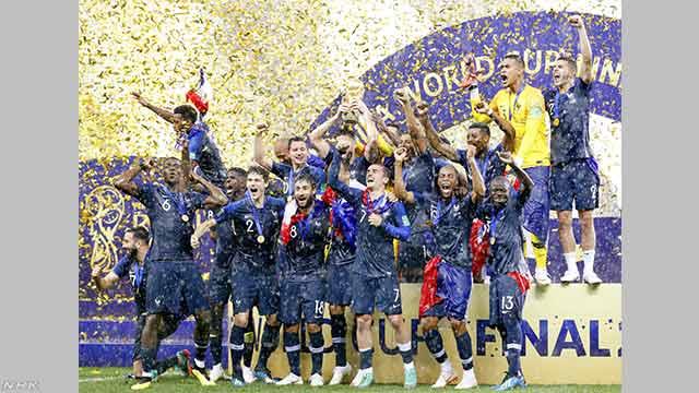 サッカーW杯 フランスが優勝 5大会ぶり2回目