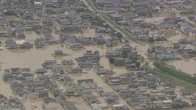 豪雨被害の住宅で盗難被害相次ぐ 警察が警戒強化 岡山県