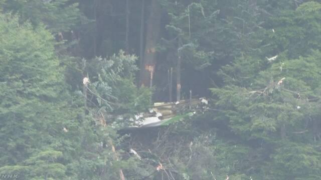 防災ヘリ墜落 死者4人に 残る1人の乗員も発見