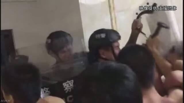 中国 労働者の釈放求め活動中の大学生ら50人余一斉拘束   NHKニュース