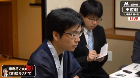 豊島将之棋聖が菅井竜也王位に勝利 2勝2敗のタイに/王位戦七番勝負第4局