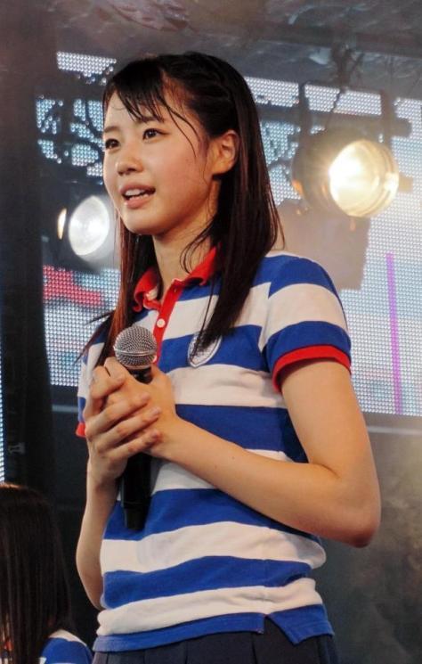 チャリティーコンサートツアーの実施が決まったSTU48の瀧野由美子=東京・六本木のニコファーレ(C)STU48