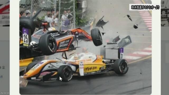 レーシングカー 宙に浮き壁に激突 5人けが マカオ | NHKニュース