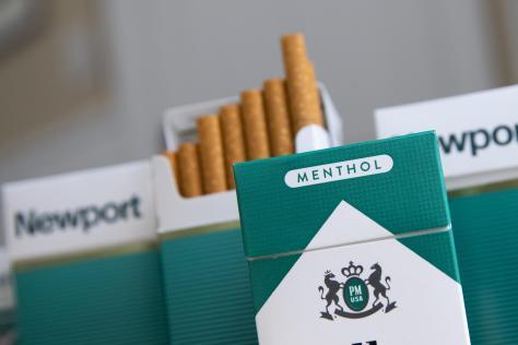 各ブランドの「メンソールたばこ」=15日、ニューヨーク(ゲッティ=共同)