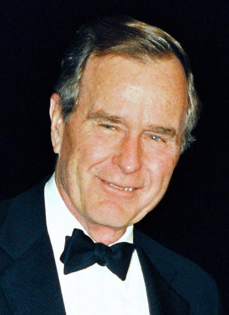 ジョージ・H・W・ブッシュ元米大統領=1992年1月、皇居