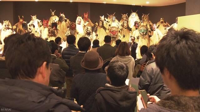 ナマハゲ「伝導士」の認定試験 秋田 男鹿 | NHKニュース