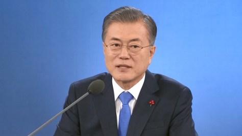 韓国・文在寅大統領の会見(1月10日 ソウル)
