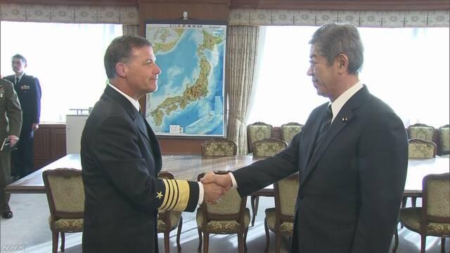 岩屋防衛相が米海軍司令官と会談「日韓関係 適切に対応」