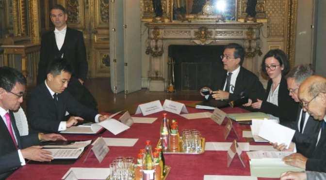 日仏外相が会談 G20、サミット成功へ協力 – 共同通信