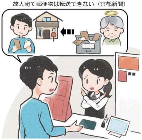 故人宛て郵便物は転送できない(京都新聞)