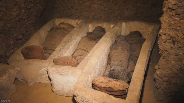 エジプトの遺跡で40体以上のミイラ見つかる