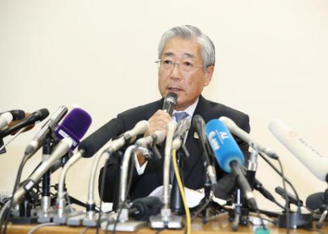 日本オリンピック委員会の竹田会長(2019年1月15日撮影)