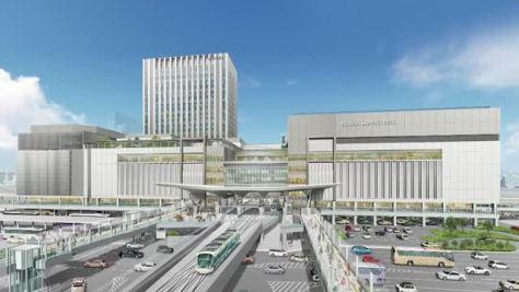 路面電車乗り入れ 新広島駅ビル発表