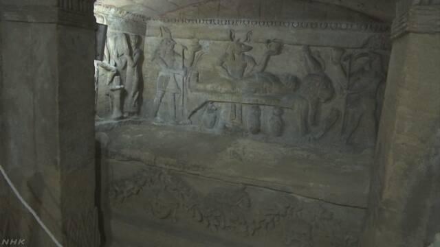 ミイラ埋葬 水没のエジプト墓地から約1900年前の壁画や彫刻   NHKニュース
