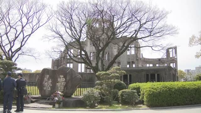原爆ドームの慰霊碑に汚物か 警察が捜査 広島
