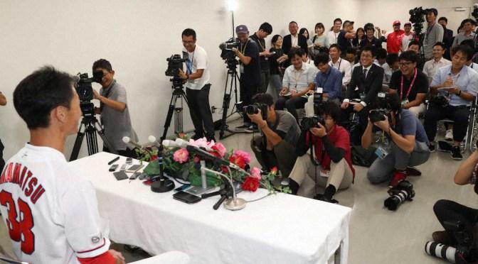広島・赤松 引退会見に菊池涼らの姿「闘病中にうっとうしいくらい連絡してくれて…」