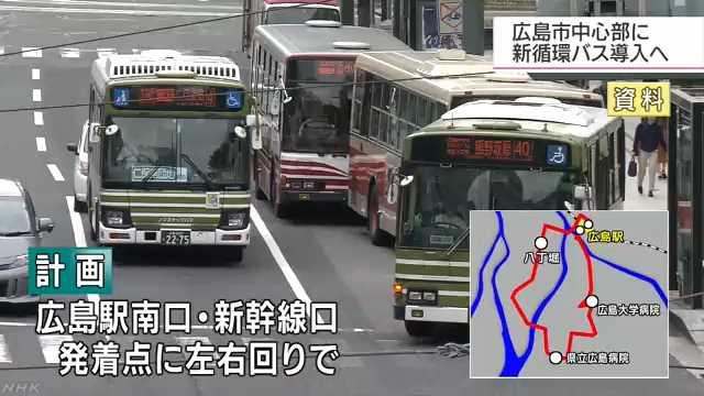 広島市中心部に新たな循環バス