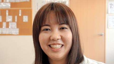 2021年への決意を語る女流棋士の水町みゆさん=2020年12月15日午後2時38分、福岡県大野城市