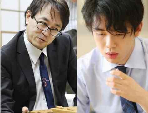 羽生善治九段(左)、藤井聡太二冠