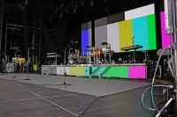 stage setup for Chicago the band