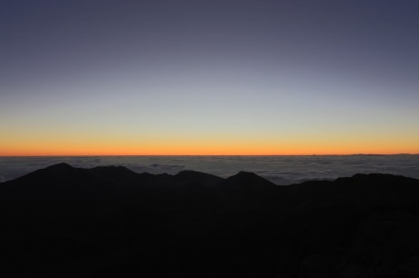 Haleakala: Just before the break.