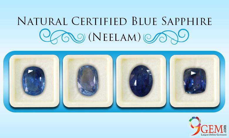 Natural Certified Blue Sapphire neelam