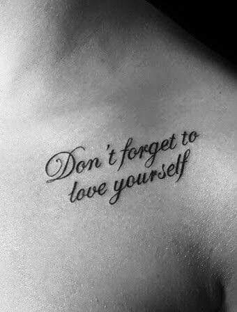 Vergeet jezelf niet!