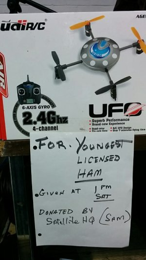 Donated quadcopter door prize