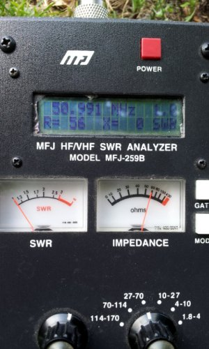 SWR=1.0 at 51MHz