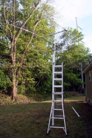 Ladder mast for the 10m Moxon