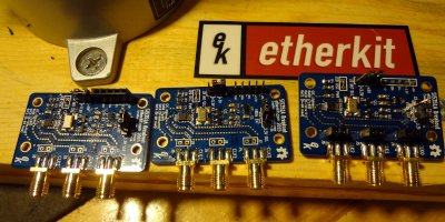 Etherkit Si5351 breakout boards 3 ways