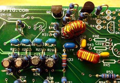 Ensemble RXTX TX mixer toroids
