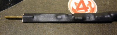 RF probe covered with heat shrink tubing