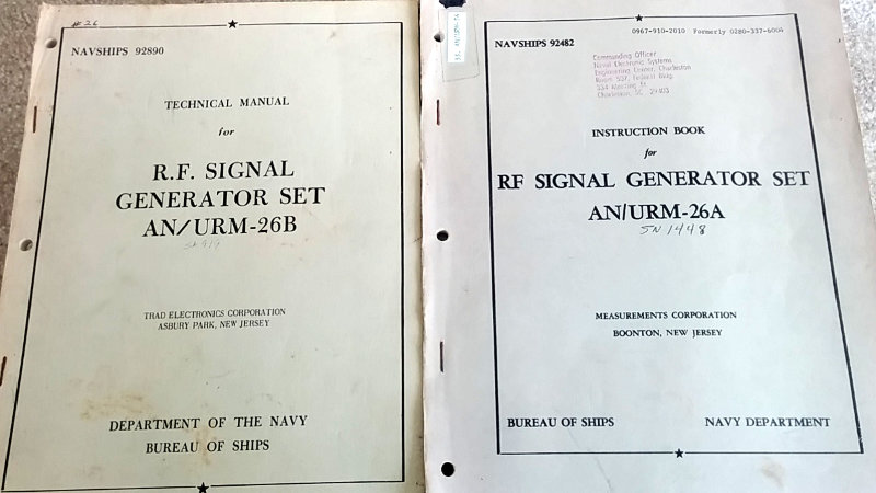 AN/URM-26B signal generator manuals