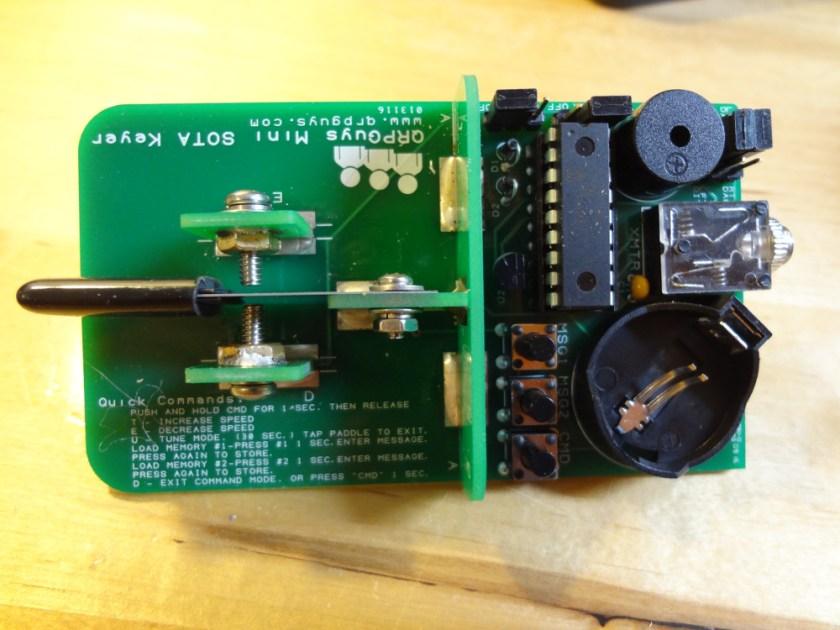 QRPGuys mini-paddle/keyer