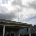 Antenna view from the back yard