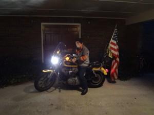 Tom/K4WJC motorcycle mobile