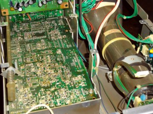 Beneath the power supply board