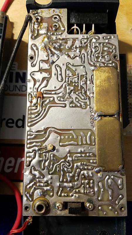 Tempo S1 handheld FM transceiver circuit board