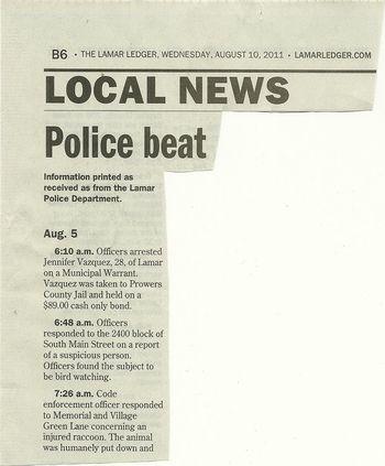 09 Police blotter