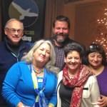 Wayne Petersen, Liz Gordon, Jeff Gordon, and Betty Petersen's sisters, X & Y. (Photo © George Armistead)