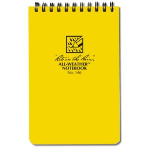 The trusty Rite in the Rain notebook is a favorite among birders.