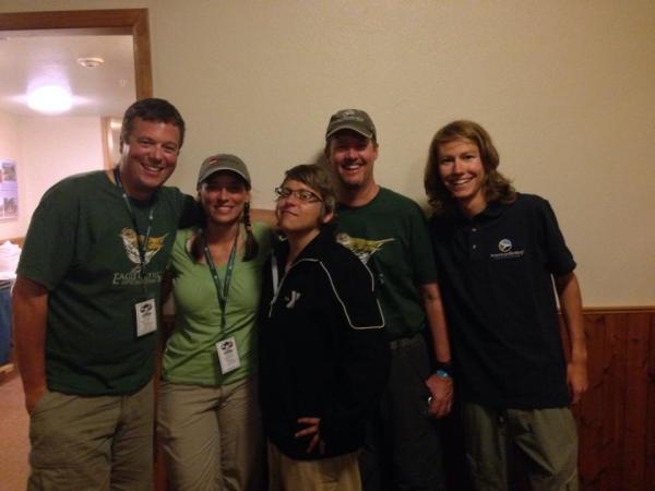 2014 Camp Colorado instructors: David La Puma, Jennie Duberstein, Jen Brumfield, and Bill Schmoker, and intern Marcel Such
