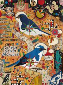 Lunch Drawing #46: Two Birds for Gabriel García Márquez