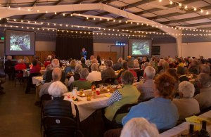 Noah gives a talk at Oregon's John Scharff Migratory Bird Festival in April.