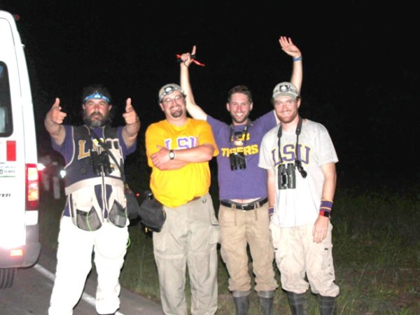 The LSU Team sets a new world's record